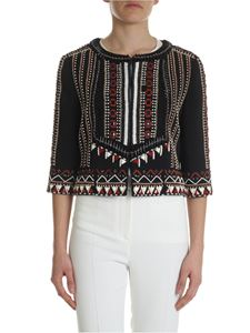 Alberta Ferretti - Black jacket with ethnic embroidery