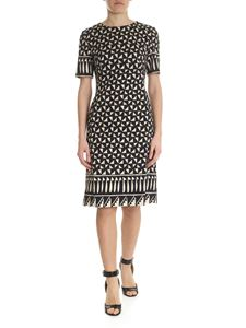 Alberta Ferretti - Black dress with geometric pattern