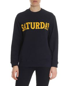 Alberta Ferretti - Blue Saturday sweatshirt