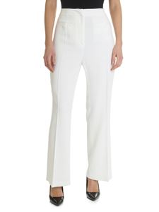 Alberta Ferretti - White trousers with front pleats