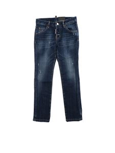 Dsquared2 - Jeans Cool Girl blu effetto vintage