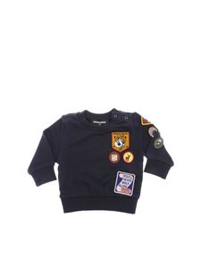 Dsquared2 - Blue sweatshirt with multicolor patches