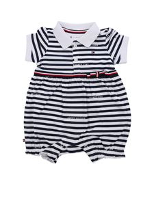Tommy Hilfiger - White and blue striped romper