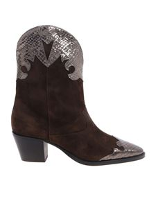 Paris Texas - Brown and gray suede boots by Paris Texas