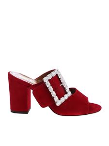 Paris Texas - Mules in Paris Texas red suede