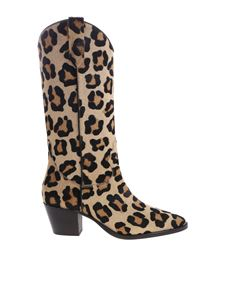 Paris Texas - Animalier calfhair boots by Paris Texas