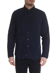 Aspesi - Blue cotton shirt for men