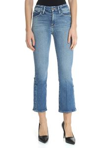 Frame - Le Crop Mini Boot Jeans in blue