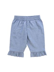 Moncler Jr - Light blue baby pants