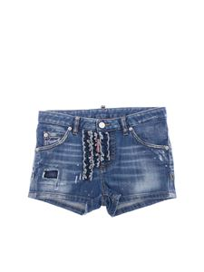 Dsquared2 - Blue painted denim shorts