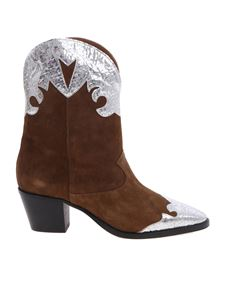 Paris Texas - Brown and silver suede boots