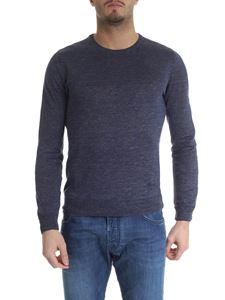 Fay - Fay pullover in blue linen
