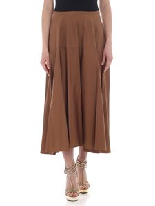 Aspesi - Brown pleated long skirt