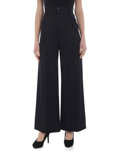 MM6 by Maison Martin Margiela - High-waisted black palazzo trousers