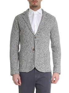L.B.M. 1911 - Knitted jacket in brown and white
