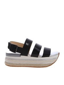 Hogan - H432 sandals with bands in black leather