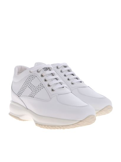 Hogan Carrie Over interactive woman's sneakers in white ...