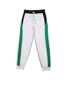 MSGM - White pants with branded stripes