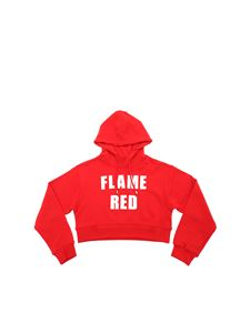 MSGM - Red sweatshirt with Flame Red print
