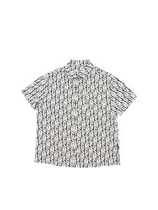 MSGM - Short-sleeved shirt with all-over logo
