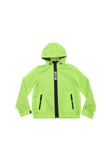 MSGM - Neon green jacket with heat-sealed zip