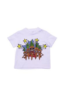 Stella McCartney Kids - T-shirt Veg Gang bianca