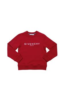 Givenchy - Red boy sweatshirt with vintage logo