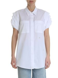 Stella Jean - White shirt with gathered sleeves