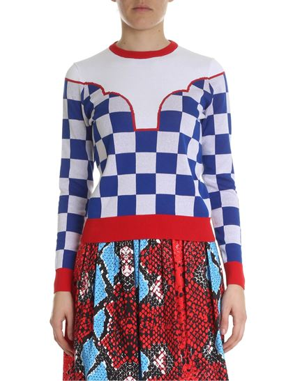 b74eaf10d Stella Jean Spring Summer 2019 blue and white checked pullover - J S ...