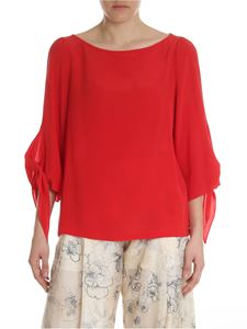Semicouture - Red silk blouse