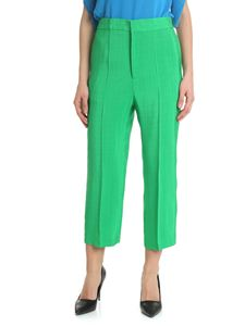 Erika Cavallini - Green viscose trousers