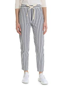 Semicouture - Blue and white striped trousers