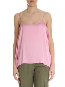 Semicouture - Pink asymmetrical viscose top