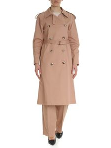 Semicouture - Antique pink double-breasted trench coat