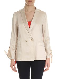 Semicouture - Double-breasted jacket in ecru color