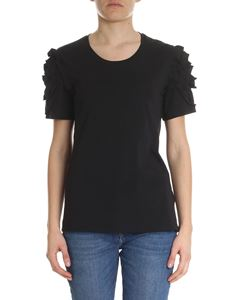 7 For All Mankind - Black t-shirt with ruffles