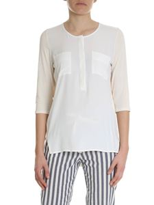 Semicouture - Ivory serafino blouse with nude effect