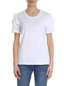 7 For All Mankind - White t-shirt with ruffles