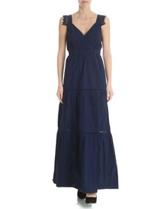 Semicouture - Blue dress in broderie anglaise