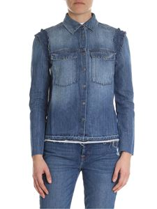 7 For All Mankind - Boxy shirt in blue denim