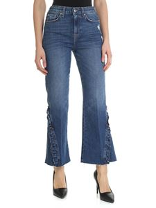 7 For All Mankind - Vintage Cropped Blue HW jeans