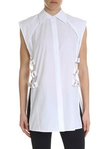 Helmut Lang - White shirt with open sides
