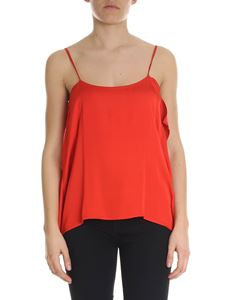 Semicouture - Red asymmetrical viscose top