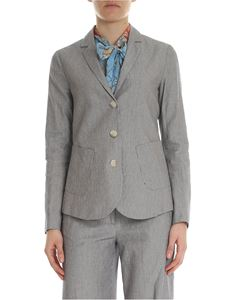 Semicouture - Striped blue and beige striped jacket