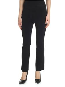 Helmut Lang - Black bootcut trousers in scuba effect fabric