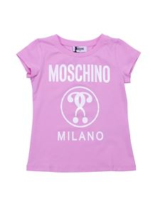 Moschino Kids - Double Question Mark pink t-shirt