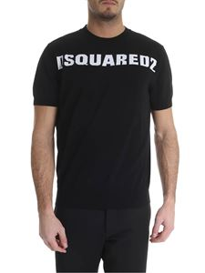 Dsquared2 - Black T-shirt with white Dsquared2 logo