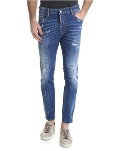 Dsquared2 - Skater jeans with blue spots of color