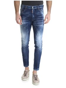 Dsquared2 - Skinny jeans in blue with contrasting shades