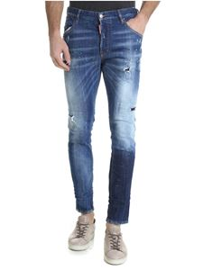 Dsquared2 - Skinny jeans in blue with multicolor spots of color